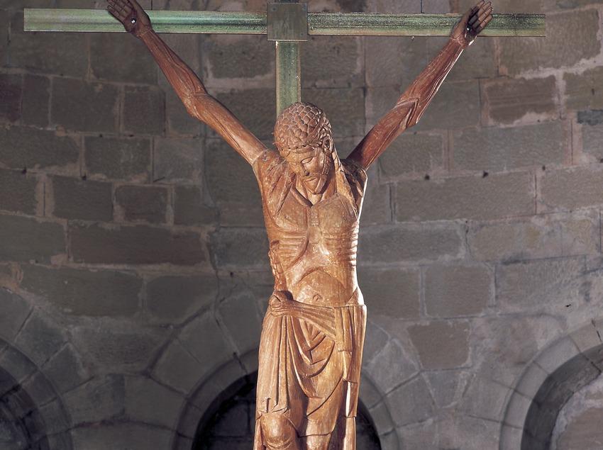 Crist de Perves (segle XIII). Museu de Lleida Diocesà i Comarcal.  (Imagen M.A.S.)