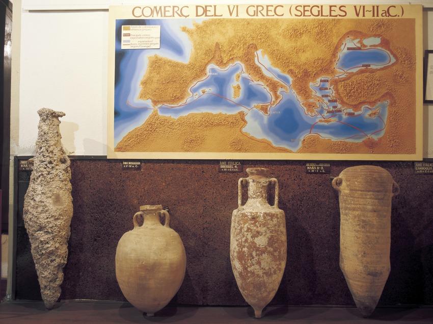 Amphores méditerranéennes du Musée des cultures du vin de Catalogne (VINSEUM)  (Imagen M.A.S.)