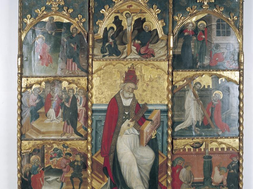 Retablo de Sant Pere Apòstol (siglo XV). Ramon de Mur. Museo Diocesano de Tarragona.  (Imagen M.A.S.)