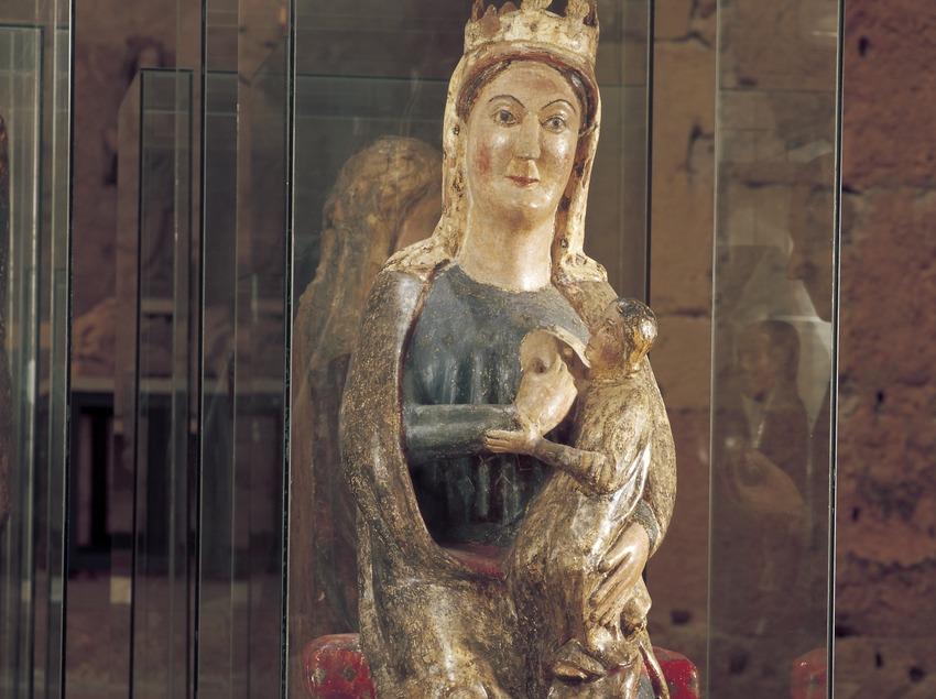 Mare de Déu de la Llet (siglo XIII). Museo Diocesano de Tarragona.  (Imagen M.A.S.)