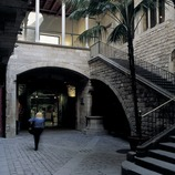 Gothic courtyard in Palau Aguilar, now the Picasso Museum.  (Imagen M.A.S.)
