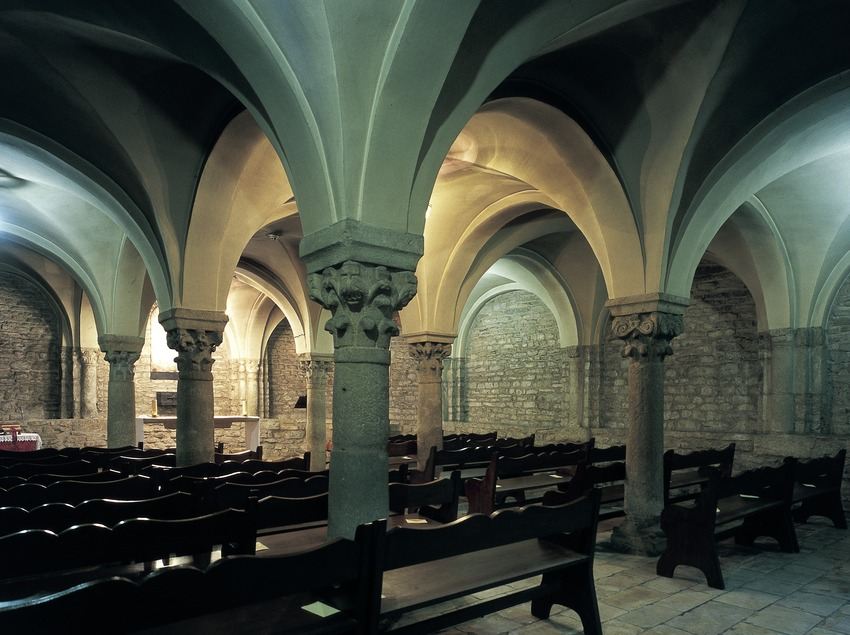 Cripta de la catedral de Sant Pere. (Imagen M.A.S.)