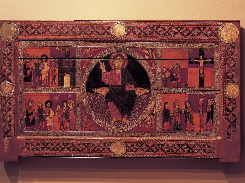 Frontal de Sant Andreu de Sagàs (segle XII). Museu Episcopal. (Imagen M.A.S.)