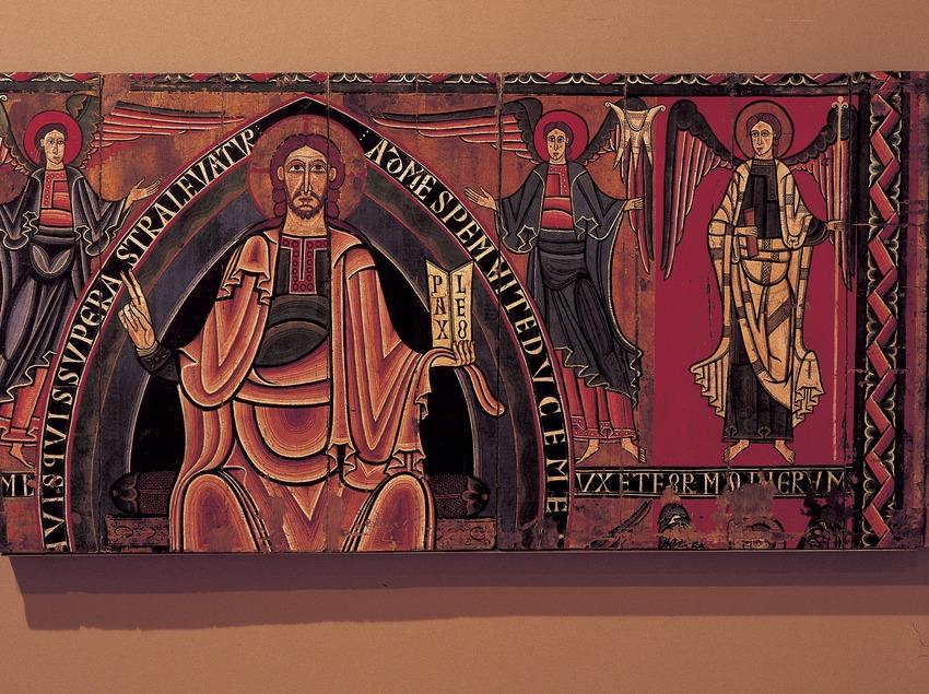Baldaquí de la Vall de Ribes (segle XII). Museu Episcopal. (Imagen M.A.S.)
