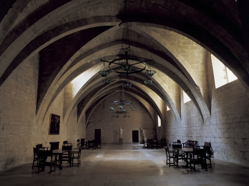 Cellar in the Royal Monastery of Santa Maria de Poblet  (Imagen M.A.S.)