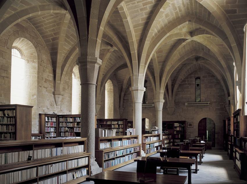 Biblioteca del Reial Monestir de Santa Maria de Poblet  (Imagen M.A.S.)