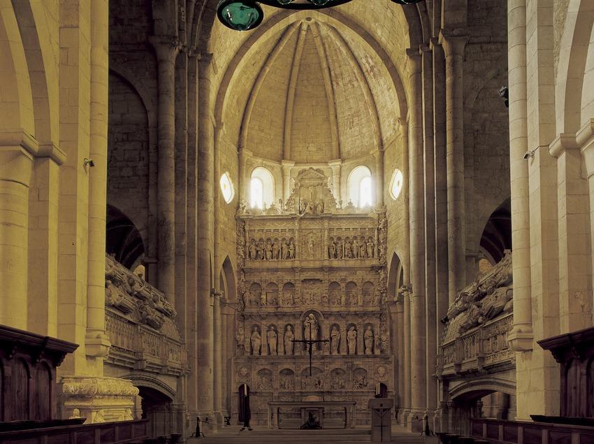 Altarpiece in the church of the Royal Monastery of Santa Maria de Poblet.  (Imagen M.A.S.)