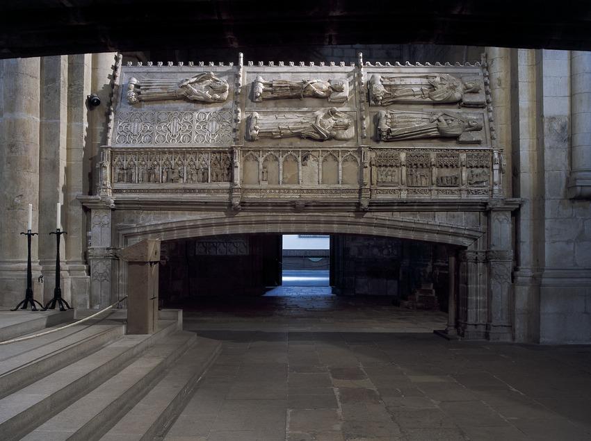 Panteó reial de l'església del Reial Monestir de Santa Maria de Poblet  (Imagen M.A.S.)