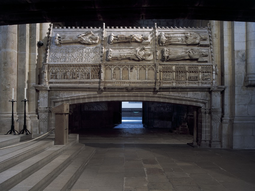 Royal pantheon in the church of the Royal Monastery of Santa Maria de Poblet.  (Imagen M.A.S.)