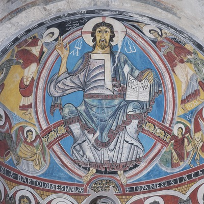 Christ Pantocrator (12th century) in the church of Sant Climent de Taüll