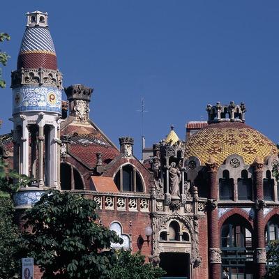 Pabellones del hospital de Sant Pau de Domènech i Montaner.