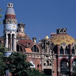 Pavilions of the hospital of Sant Pau by Domènech i Montaner.