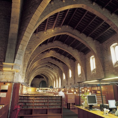 Biblioteca de Catalunya en el antiguo Hospital de La Santa Creu.  (Imagen M.A.S.)