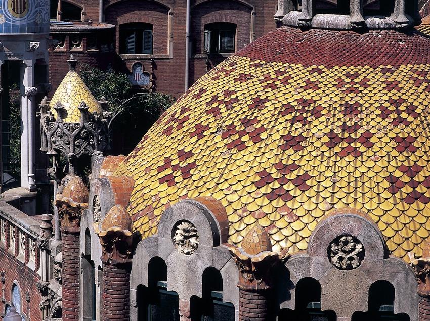 Cúpula de un pabellón del hospital de Sant Pau de Domènech i Montaner.  (Imagen M.A.S.)