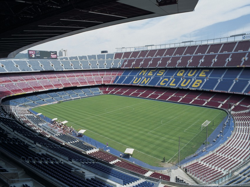 Camp Nou. Barcelona Football Club Stadium