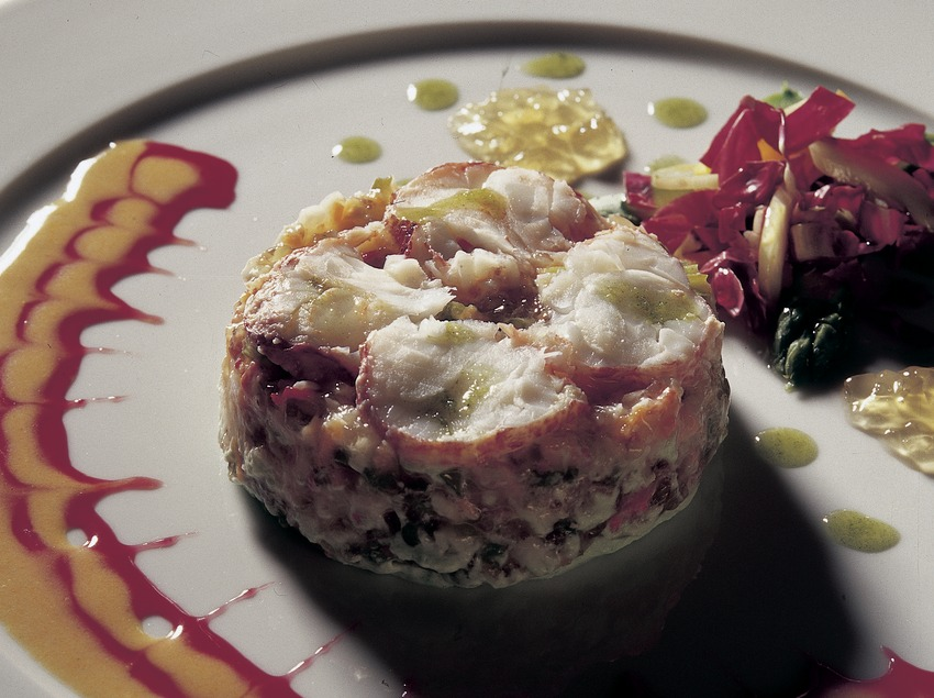 Tàrtar vegetal amb llamàntol al mascarpone elaborat a la cuina del restaurant Jaume de Provença. (Imagen M.A.S.)