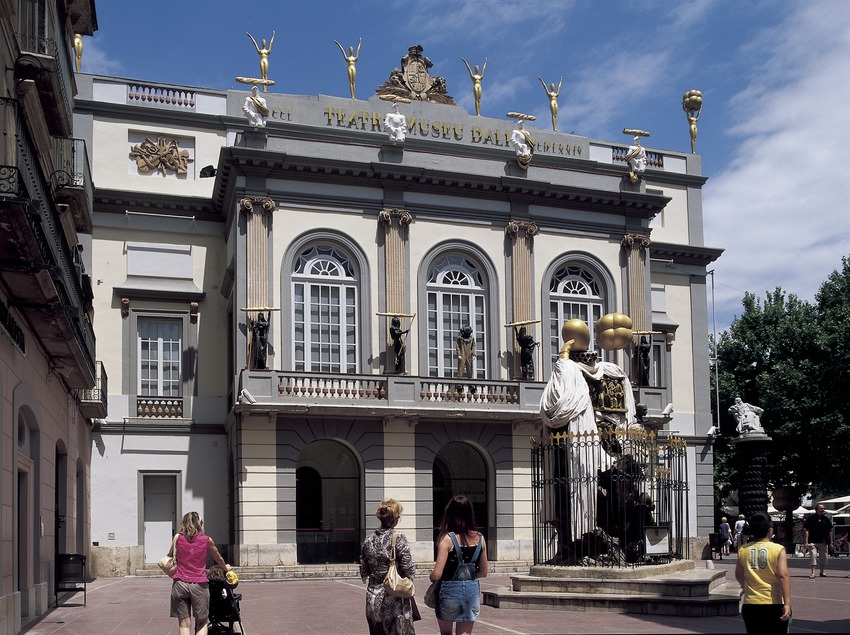 Fachada del Teatro-Museo Dalí.
