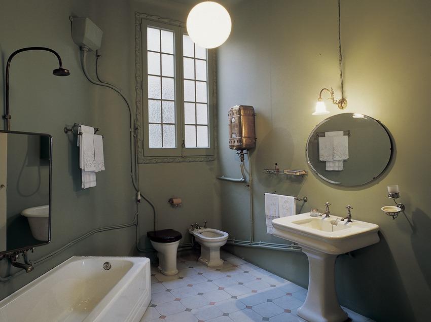 Salle de bain de la maison Milà, La Pedrera. (Imagen M.A.S.)