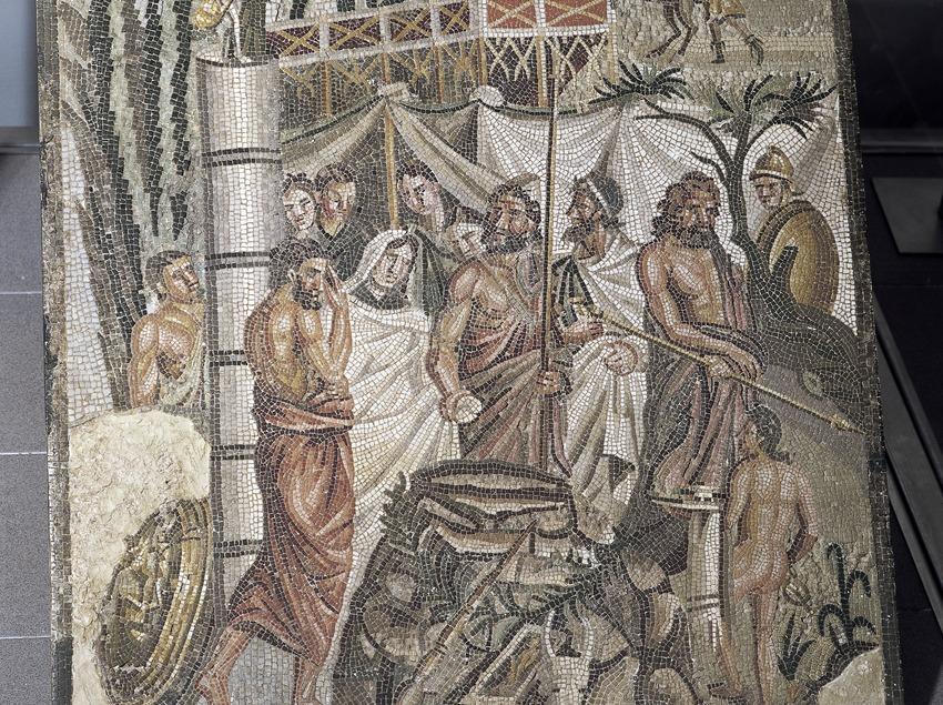 Sacrifici d'Ifìgènia al Museu d'Arqueologia de Catalunya-Empúries.  (Imagen M.A.S.)