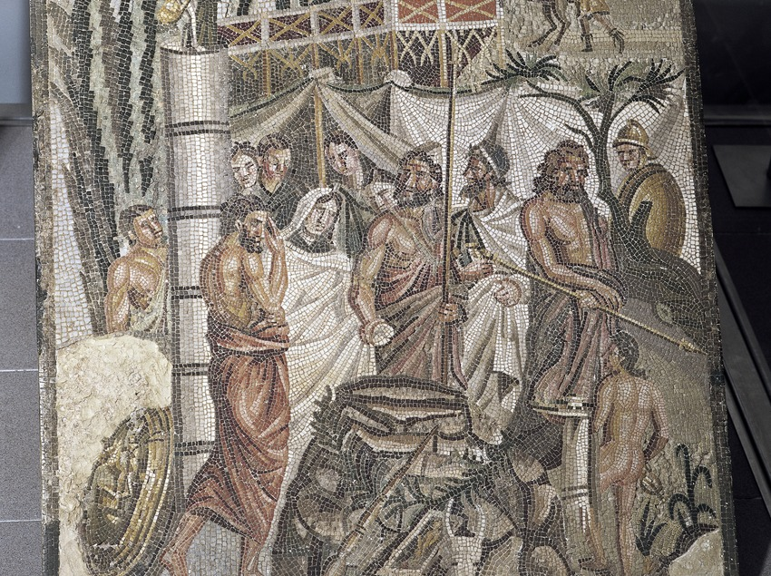Sacrificio de Ifigenia en el Museo de Arqueología de Catalunya-Empúries.  (Imagen M.A.S.)
