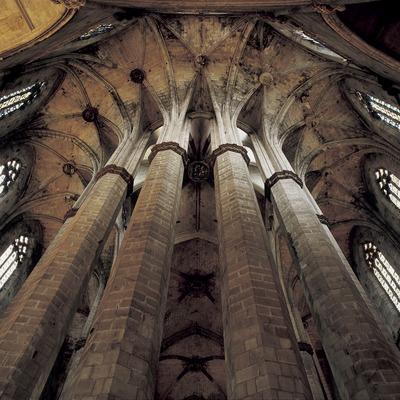 Colonnes octogonales du déambulatoire de l'église Santa Maria del Mar. (Imagen M.A.S.)