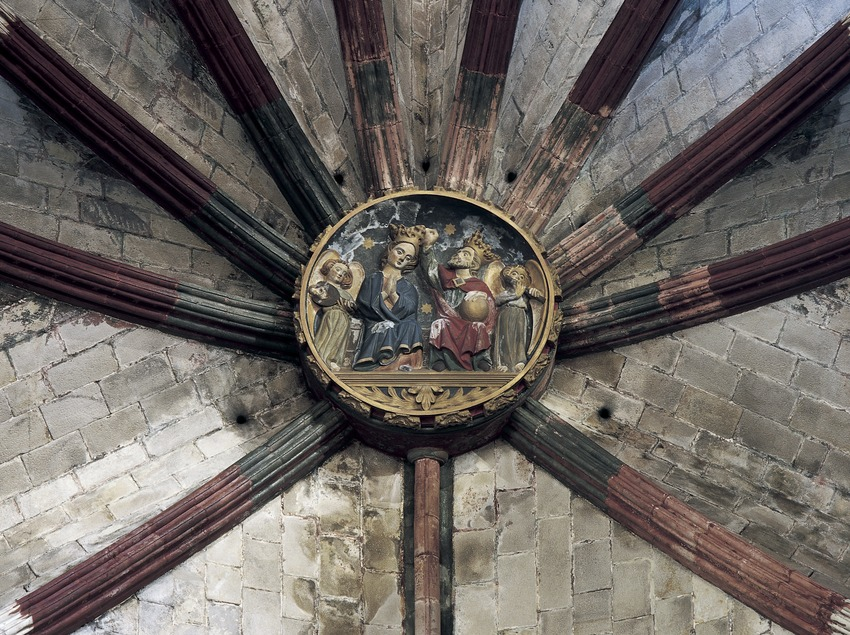 Clave de vuelta del templo de Santa Maria del Mar. (Imagen M.A.S.)