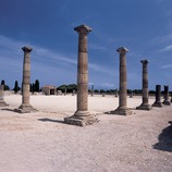Forum of the Roman city in the archaeological park of Empúries.  (Imagen M.A.S.)