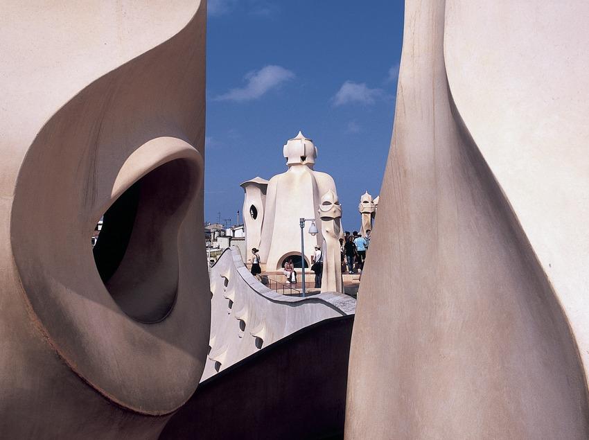 Detall del terrat de la Casa Milà, La Pedrera. (Imagen M.A.S.)