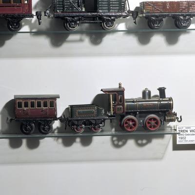 Locomotora i vagons. Museu del joguet de Catalunya.  (Imagen M.A.S.)