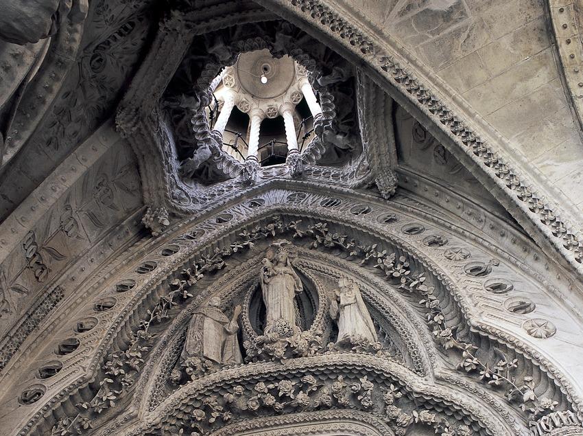 Detall interior del Temple Expiatori de la Sagrada Família. (Imagen M.A.S.)