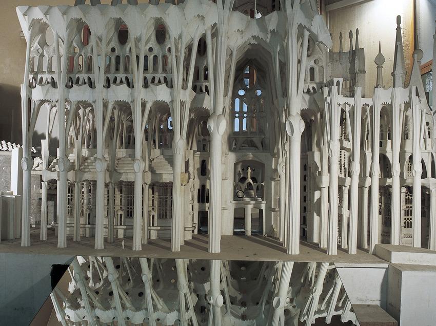 Maqueta del Temple Expiatori de la Sagrada Família, al museu del temple. (Imagen M.A.S.)