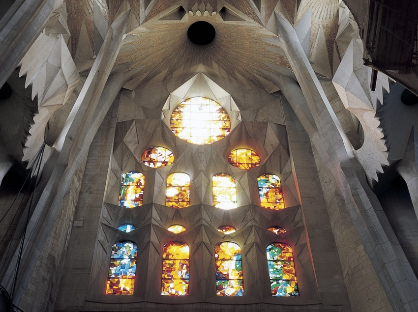 Transsepte del Temple Expiatori de la Sagrada Família.