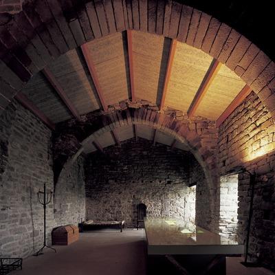 Dormitorio del monasterio de Sant Pere de Casserres (Imagen M.A.S.)