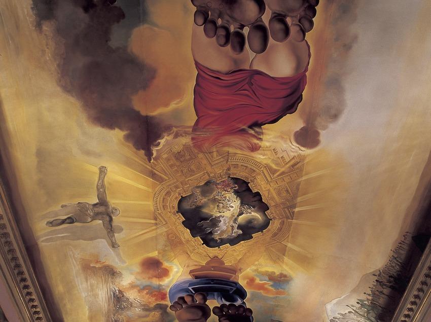 Techo de la sala Palau del Vent en el Teatro-Museo Dalí.  (Imagen M.A.S.)