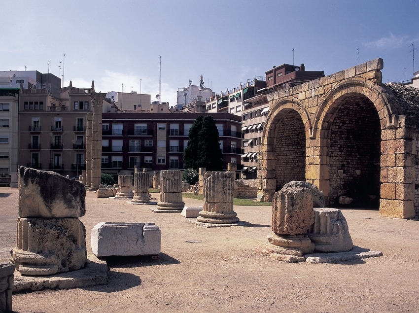 Tiendas del Foro Local romano.  (Imagen M.A.S.)