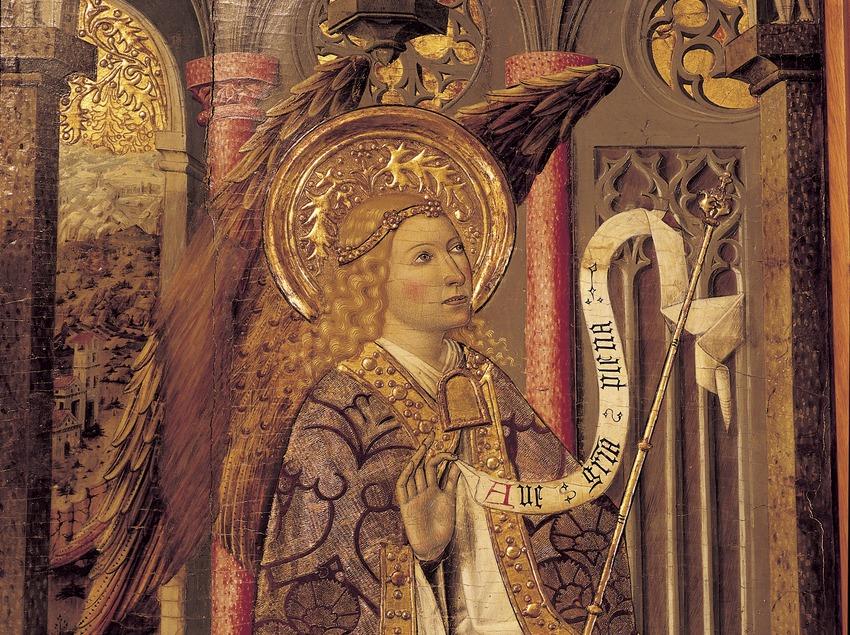 Tabla de la Anunciación (siglo XV). Ramon Solà. Tesoro de la Catedral de Girona.  (Imagen M.A.S.)