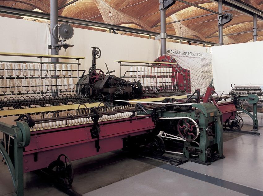 Recreació d'un teler mecànic al Museu de la Ciència i de la Tècnica de Catalunya (MNACTEC).  (Imagen M.A.S.)