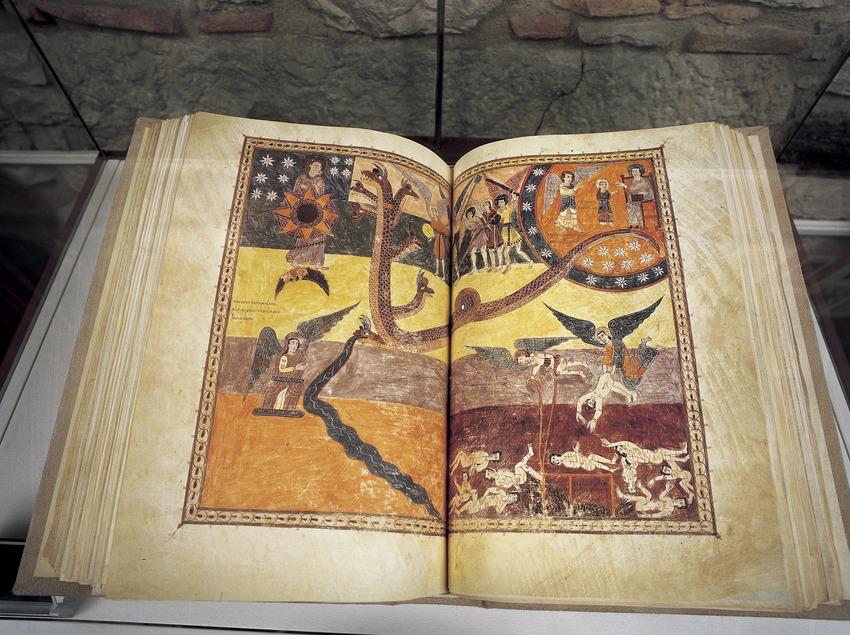 Còdex de l'Apocalipsi o Beatus de Girona (975). Tresor de la Catedral de Girona.  (Imagen M.A.S.)