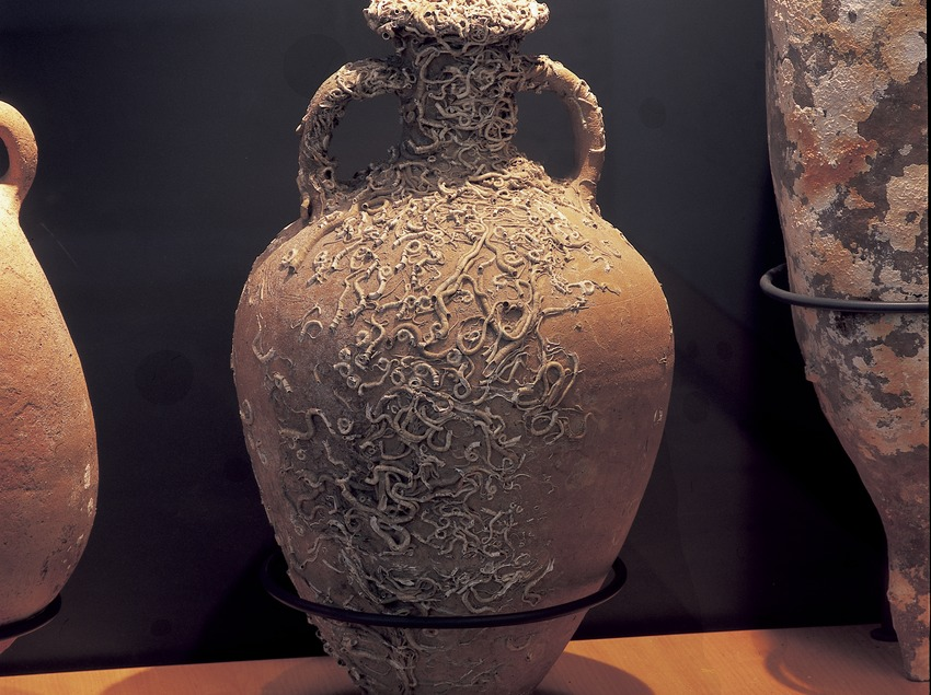 Ánfora en el museo de la Ciutadella de Roses.  (Imagen M.A.S.)