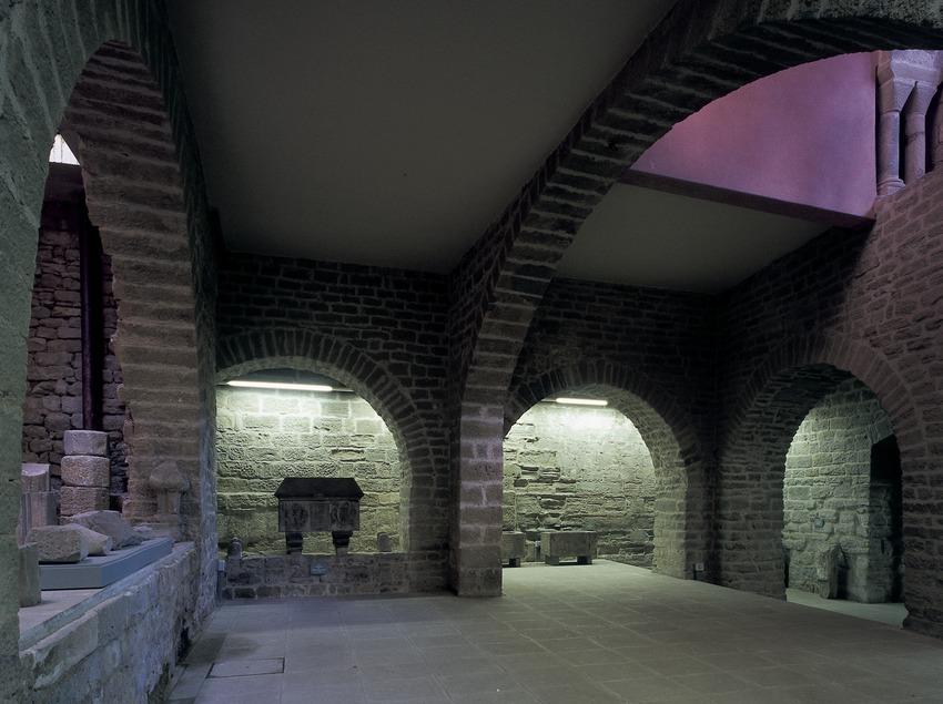 Cripta de la basílica de Santa Maria de La Seu.  (Imagen M.A.S.)