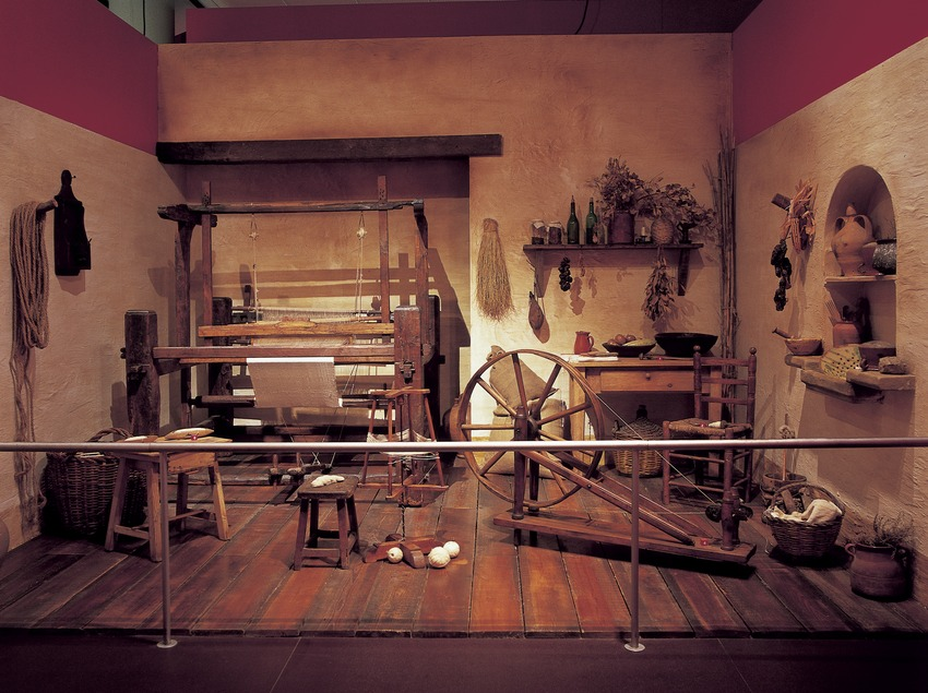 Recreación de un obrador textil en el Museo de la Ciencia y de la Técnica de Catalunya (MNACTEC).  (Imagen M.A.S.)