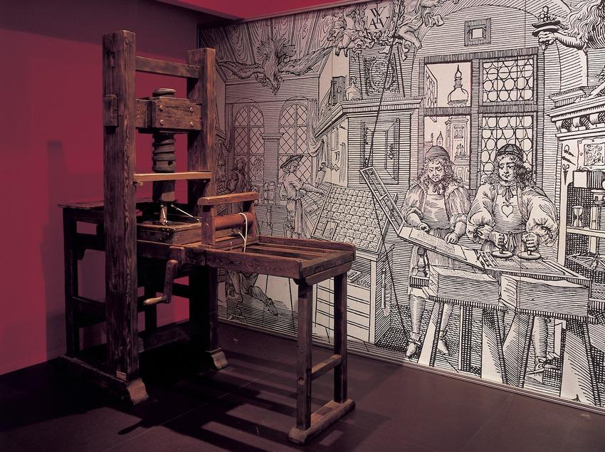 Impremta en el Museu de la Ciència i de la Tècnica de Catalunya (MNACTEC).  (Imagen M.A.S.)
