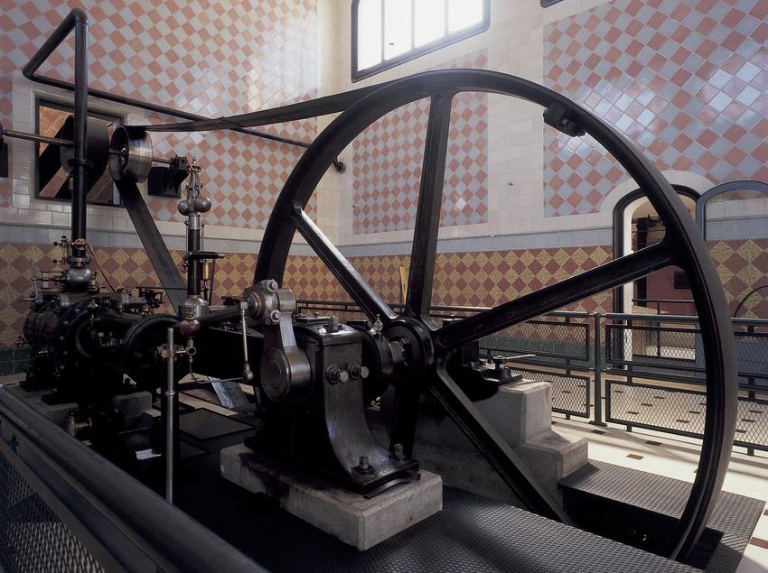 Machine à vapeur du Musée de la science et de la technique de Catalogne (MNACTEC).  (Imagen M.A.S.)