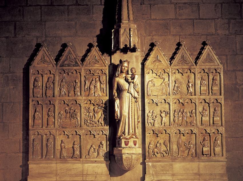Retaule de la Verge Blanca (1343). Monestir de Sant Joan de les Abadesses  (Imagen M.A.S.)