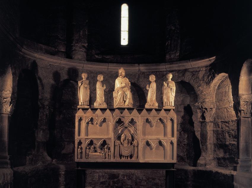 Sepulcre a l'església del monestir de Sant Joan de les Abadesses  (Imagen M.A.S.)