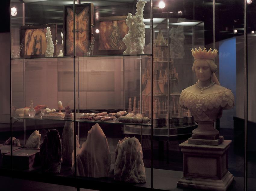 Escultures de sal del Museu Diocesà i Comarcal de Solsona.  (Imagen M.A.S.)