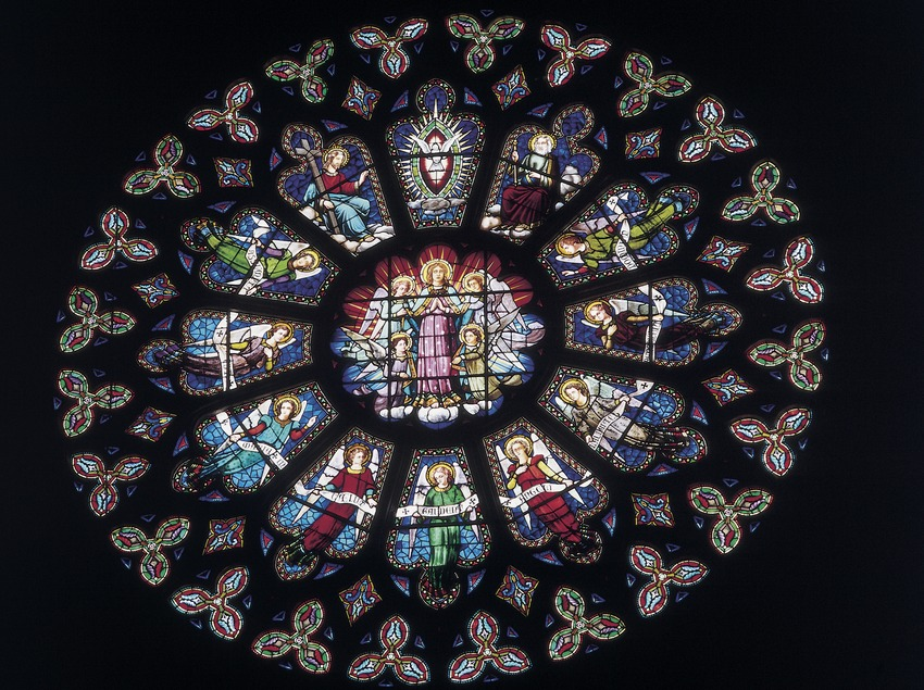 Rose window of the basilica of Santa Maria de La Seu.  (Imagen M.A.S.)
