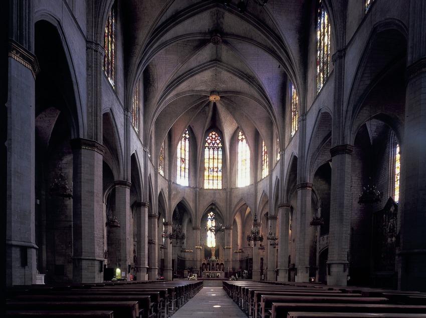 Nave central de la basílica de Santa Maria de La Seu.  (Imagen M.A.S.)