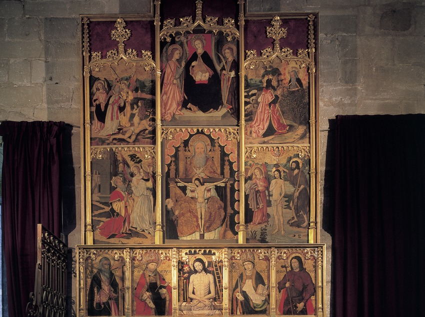 Retablo de la basílica de Santa Maria de La Seu.  (Imagen M.A.S.)