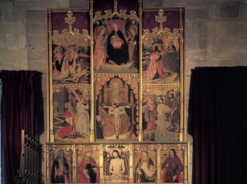 Retaule de la basílica de Santa Maria de La Seu.  (Imagen M.A.S.)